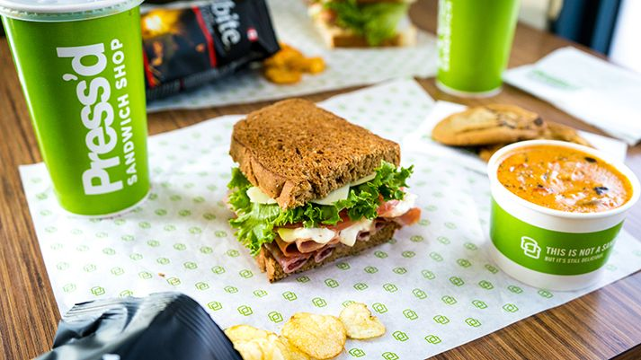 Press'd Sandwich Shop Franchise Canada